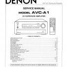 Denon AVC-A1 Surround Amplifier Service Manual PDF