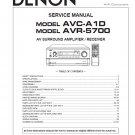 Denon AVC-A1D ,AVR-5700 Surround Amplifier Service Manual PDF