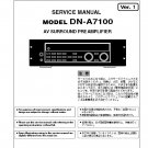 Denon DN-A7100 Ver.1 Surround PreAmplifier Service Manual PDF