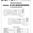 Denon AVR-600 ,AVR-600RD Surround Receiver Service Manual PDF