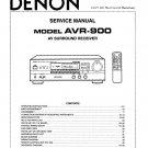 Denon AVR-900 Surround Receiver Service Manual PDF