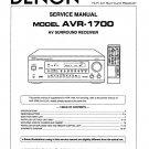 Denon AVR-1700 Surround Receiver Service Manual PDF
