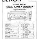 Denon AVR-1800 ,AVR-87 Surround Receiver Service Manual PDF