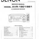 Denon AVR-1801 ,AVR-881 Surround Receiver Service Manual PDF