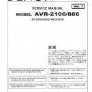 Denon AVR-2106 ,AVR-886 Ver.1 Surround Receiver Service Manual PDF