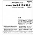 Denon AVR-2106 ,AVR-886 Ver.4 Surround Receiver Service Manual PDF