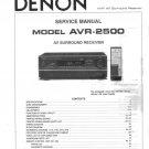 Denon AVR-2500 Surround Receiver Service Manual PDF