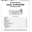 Denon AVR-2700 Surround Receiver Service Manual PDF