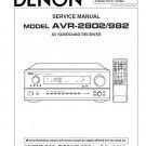 Denon AVR-2802 ,AVR-982 Surround Receiver Service Manual PDF