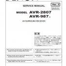 Denon AVR-2807 ,AVR-987 Ver.3 Surround Receiver Service Manual PDF