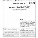 Denon AVR-2807 Ver.1 Surround Receiver Service Manual PDF