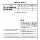 Denon AVR-2808CI ,AVR-988 Ver.2 Surround Receiver Service Manual PDF