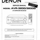 Denon AVR-3200 ,AVR-3200G Surround Receiver Service Manual PDF