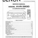 Denon AVR-3200 Surround Receiver Service Manual PDF