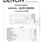 Denon AVR-3600 Surround Receiver Service Manual PDF