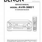 Denon AVR-3801 Surround Receiver Service Manual PDF