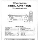 Denon AVR-F100 Surround Receiver Service Manual PDF