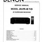 Denon AVR-610 Surround Receiver Service Manual PDF