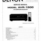 Denon AVR-1500 Surround Receiver Service Manual PDF