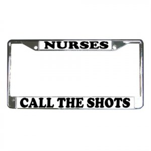 NURSES License Plate Frame Vehicle Heavy Duty Metal 12467264