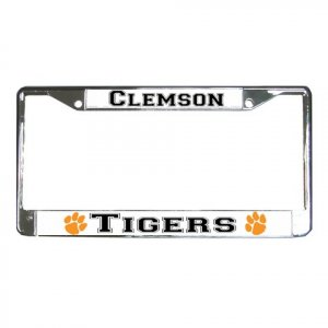 CLEMSON TIGERS License Plate Frame Vehicle Heavy Duty Metal 18135525