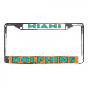 MIAMI DOLPHINS License Plate Frame Vehicle Heavy Duty Metal 18586567