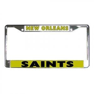 NEW ORLEAN SAINTS License Plate Frame Vehicle Heavy Duty Metal 18592662