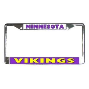 MINNESOTA VIKINGS License Plate Frame Vehicle Heavy Duty Metal 18593369