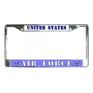 US AIRFORCE License Plate Frame Vehicle Heavy Duty Metal 18600047