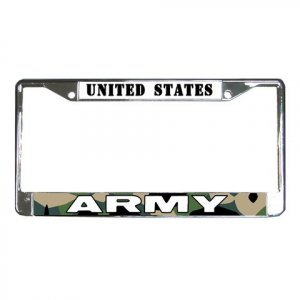 US ARMY License Plate Frame Vehicle Heavy Duty Metal 18600053