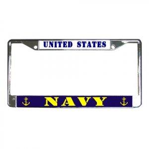 US NAVY License Plate Frame Vehicle Heavy Duty Metal 18600050