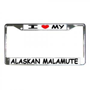 MALMUTE DOG License Plate Frame Vehicle Heavy Duty Metal 12104292