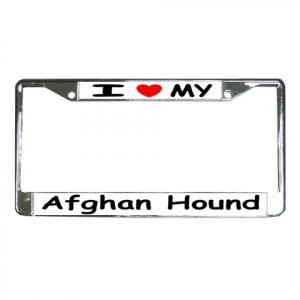 AFGHAN HOUND DOG License Plate Frame Vehicle Heavy Duty Metal 12148757