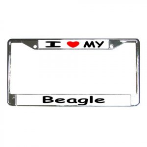 BEAGLE DOG License Plate Frame Vehicle Heavy Duty Metal 12148760