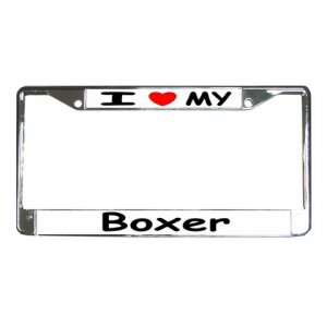 BOXER DOG License Plate Frame Vehicle Heavy Duty Metal 12239527