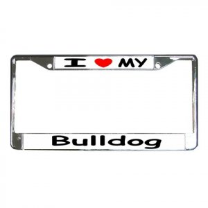 BULL DOG License Plate Frame Vehicle Heavy Duty Metal 12239529