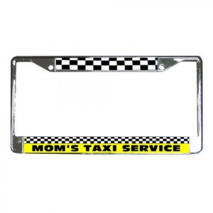 MOM'S TAXI SERVICE License Plate Frame Vehicle Heavy Duty Metal 21360170