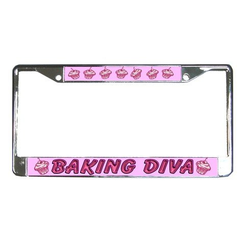 BAKING DIVA License Plate Frame Vehicle Heavy Duty Metal 22075142