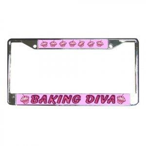 BAKING DIVA License Plate Frame Vehicle Heavy Duty Metal 22075142