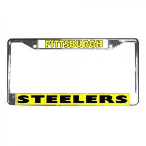 PITTSBURGH STEELERS License Plate Frame Vehicle Heavy Duty Metal 22230909