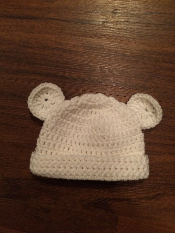 Baby Bear Beanie: 0-6 months, 6-12 months