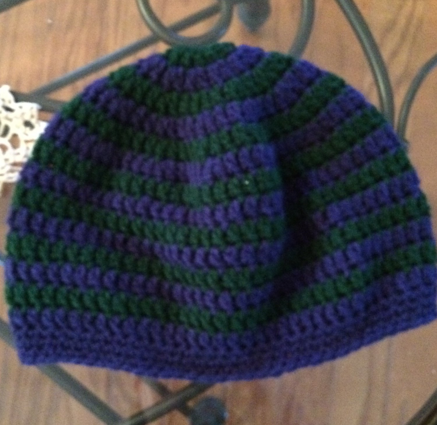 Sweet Stripes Beanie: Adult Small, Adult Medium, Adult Large