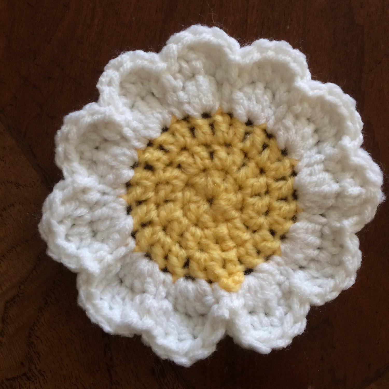 Sunshine Daisy Coasters: Set of 4