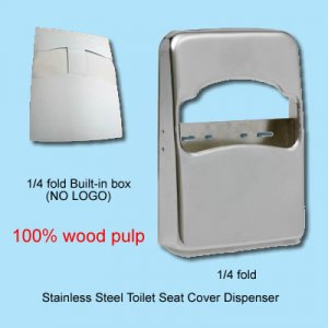 1/4 fold toilet seat cover dispensers