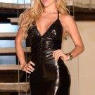 Sexy Halter Black Deep-V Mini Club Dress Summer Party dress W845147
