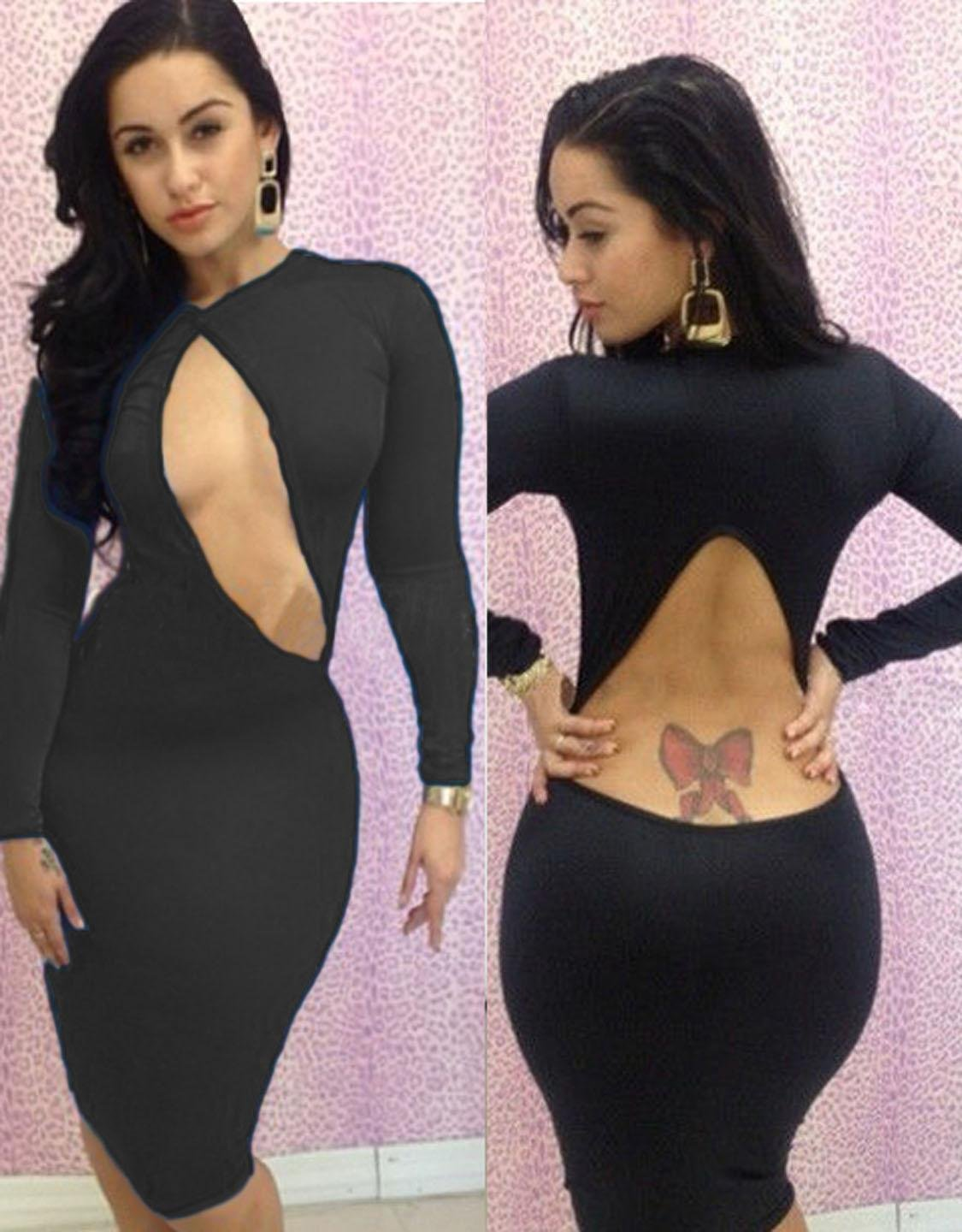 2016 Hot Sale Sexy Women Summer Black Crystal Fashion Bodycon Party Dress W203167