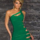 Sexy Elegant Slinky One Shoulder Mini Dress With Cut-Outs Dress W123411