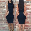 Hollow Out Sexy Bodycon Knee-Length Casual Dress W203772