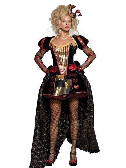 Luxury Wonderland Queen Dress Halloween Costumes Deluxe Cosplay Princess Fancy Dress