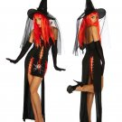 Sexy Witch Costume Deluxe Adult Womens Magic Moment Costume Adult Halloween Fancy Dress w8910